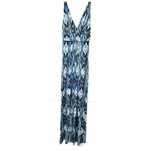 TART Maxi Dress Blue Faux Wrap